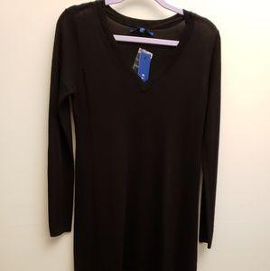 NWT Apt.9 Black Lightweight Sweater Tunic S